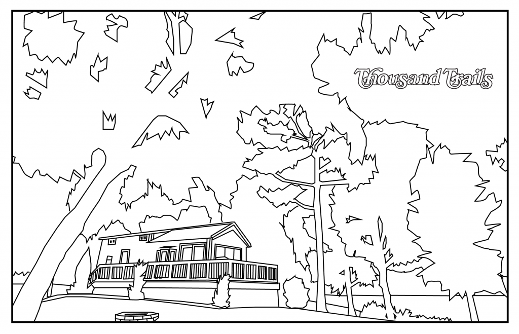 MH house in a campground coloring page